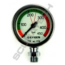 Manometr S-Tech O2 450 bar 52 mm chrom - głowica
